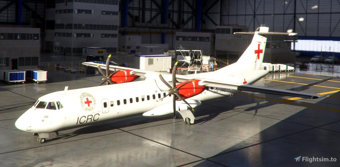 Red Cross ATR-72-600 Livery Flight Simulator 2020