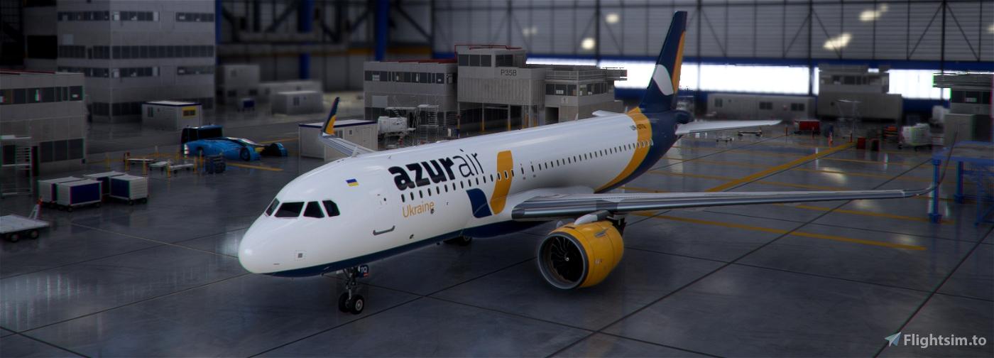 FBW A32NX Azur Air Ukraine livery Flight Simulator 2020