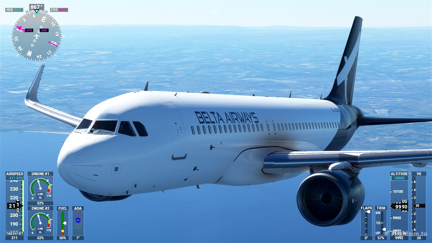 Airbus A320neo Belta Airways [8K] Flight Simulator 2020
