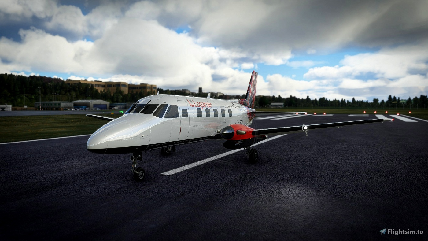 NextGen Simulations EMB-110 Bandeirante Loganair Modern