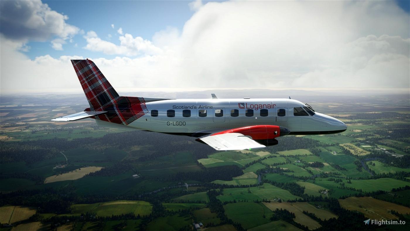 NextGen Simulations EMB-110 Bandeirante Loganair Modern Flight Simulator 2020