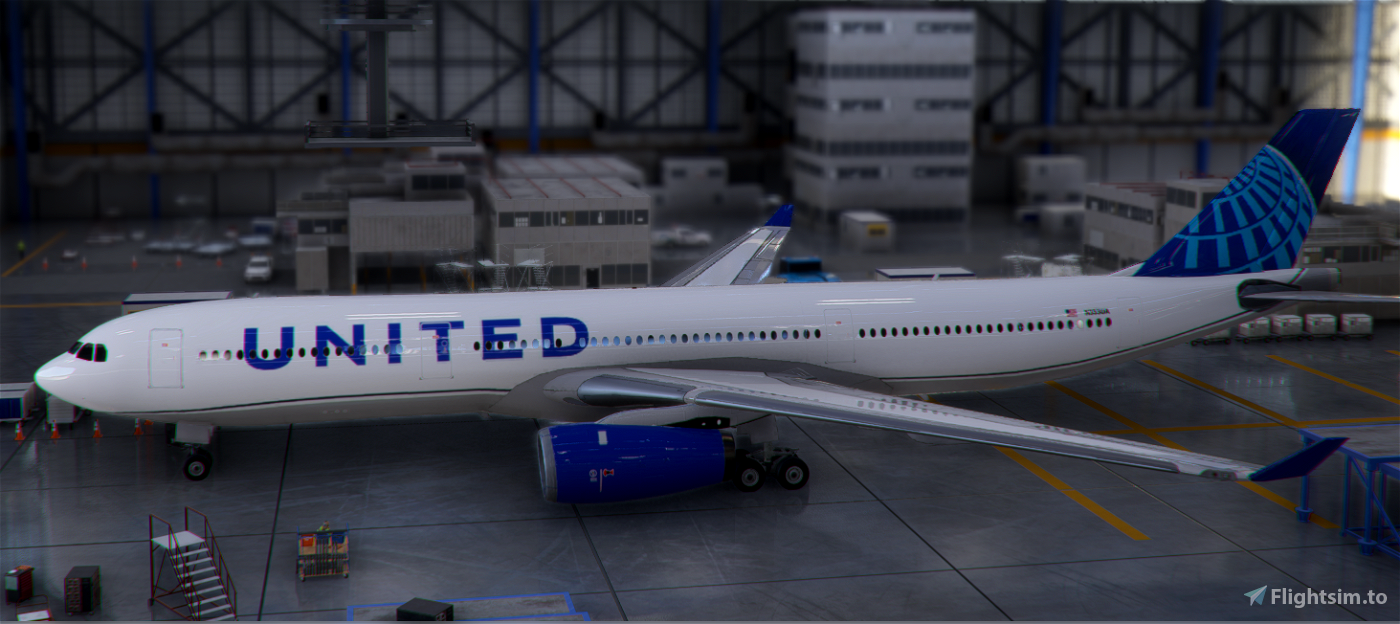 PMP Airbus A330-300 United new colors - fictional [4k]