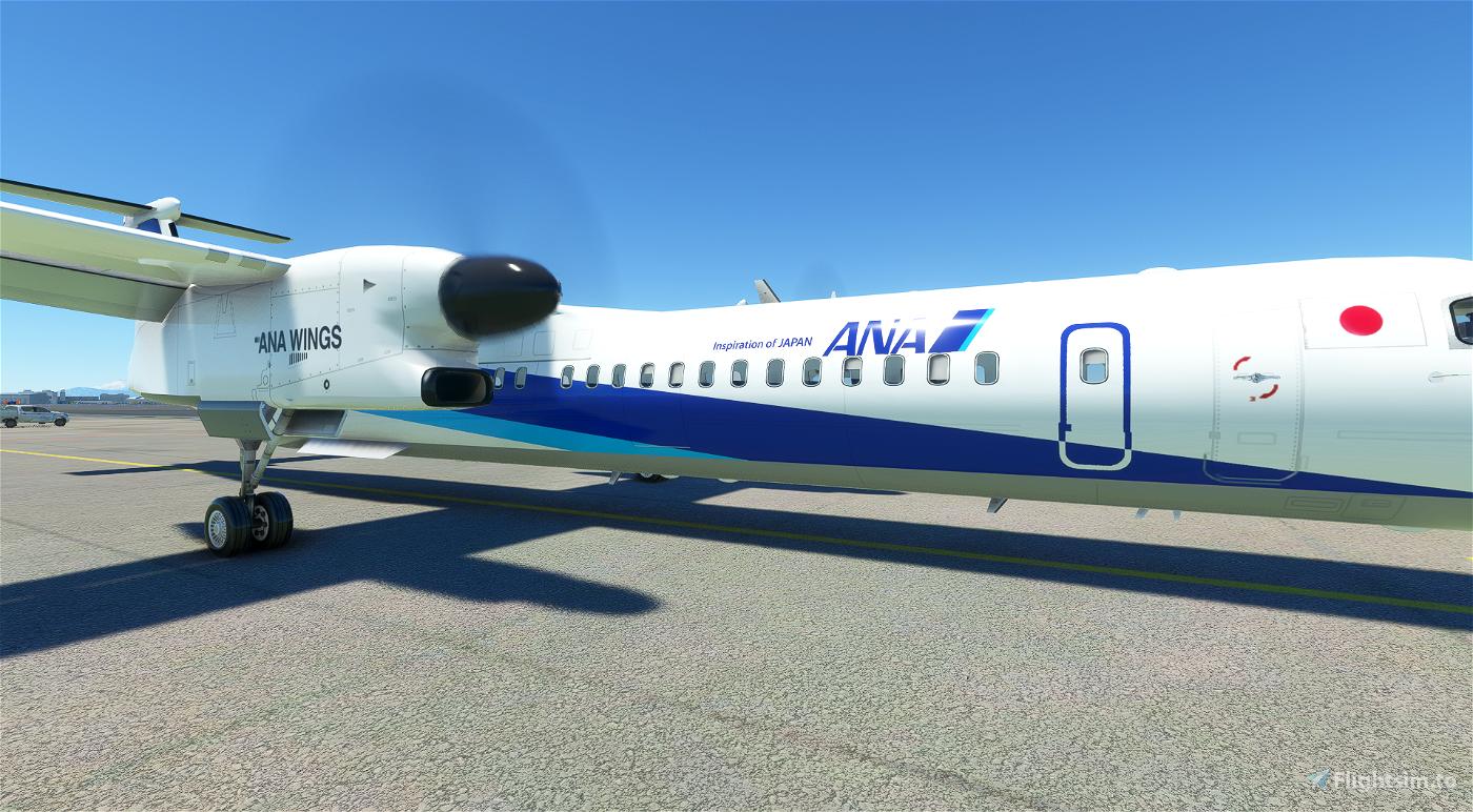 Dash8 Q400 ANA Wings [4K]