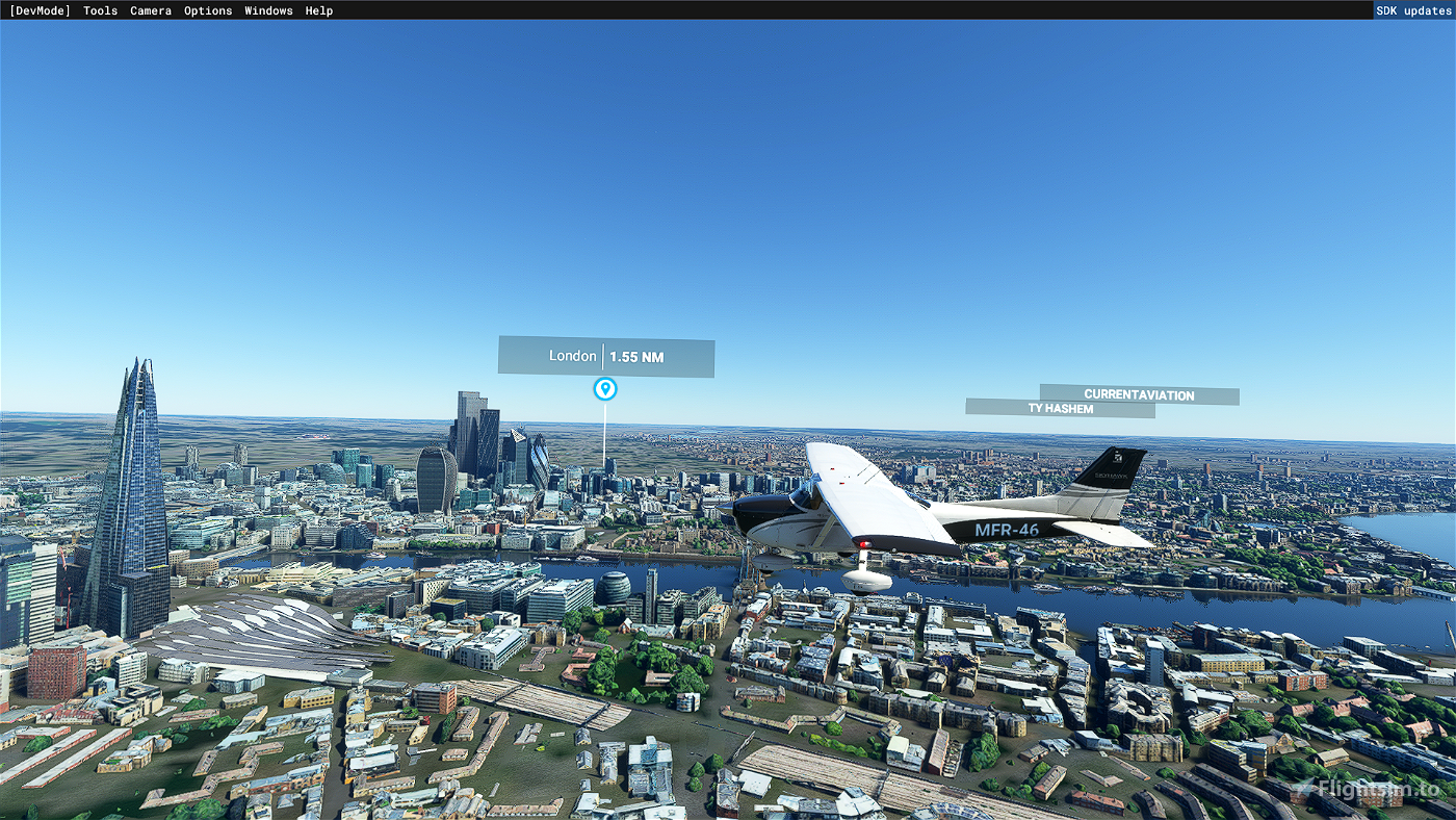 Támesis orilla London-2   Flight Simulator 2020