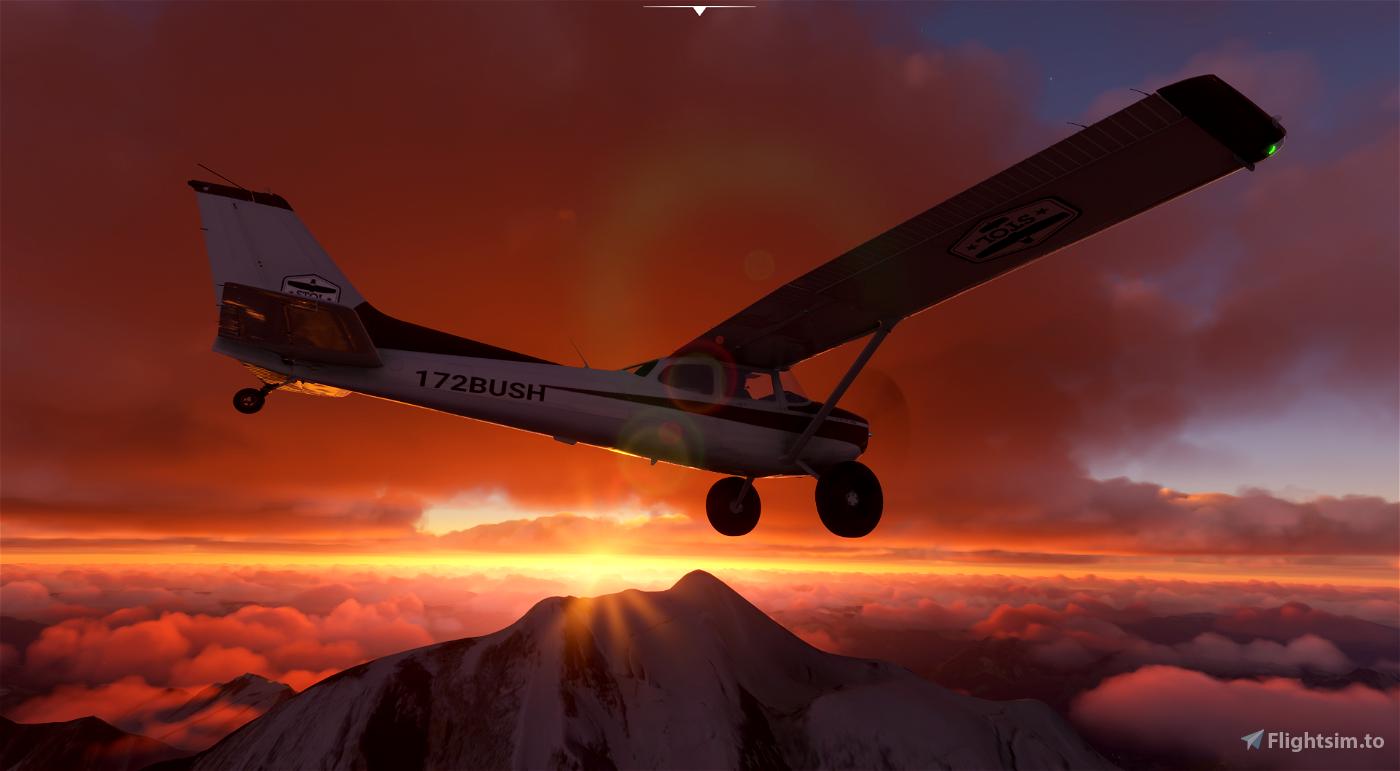 Cessna 172 Tail dragger Flight Simulator 2020