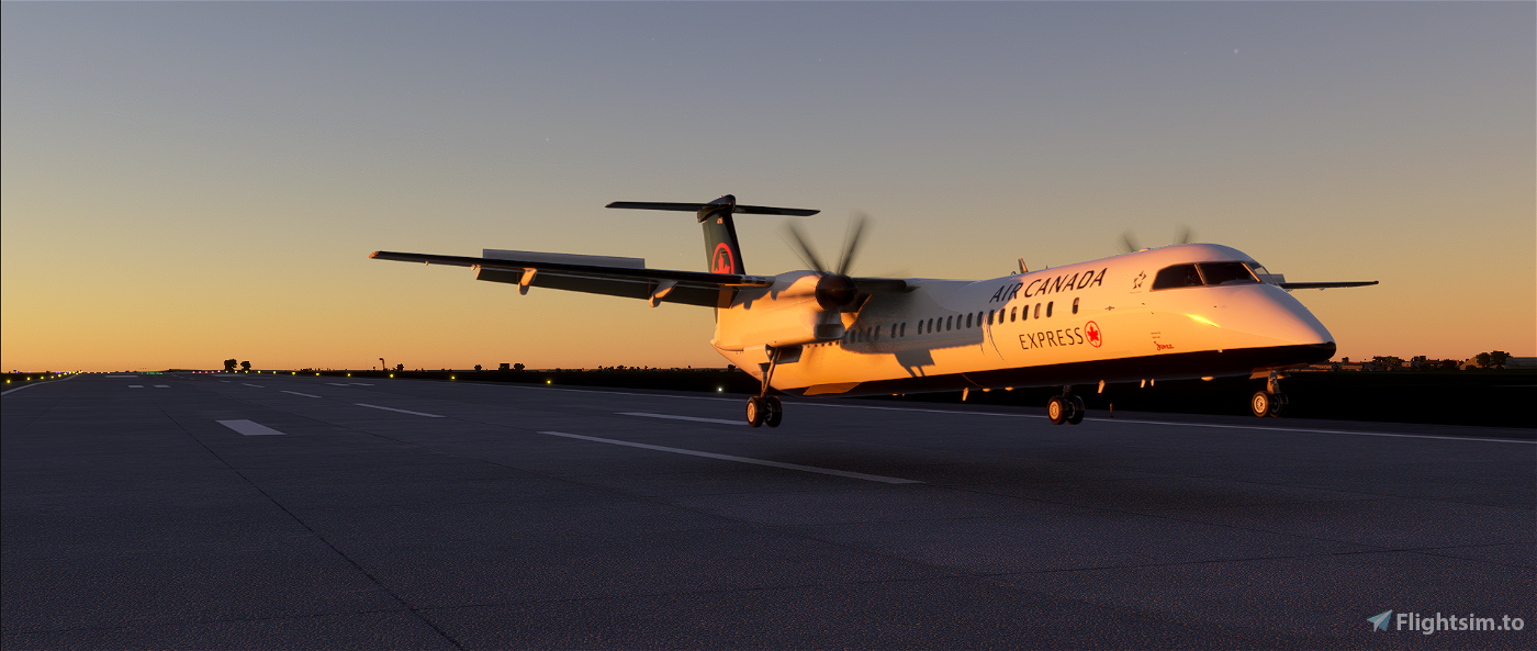 DHC8-Q400 Air Canada Express Flight Simulator 2020