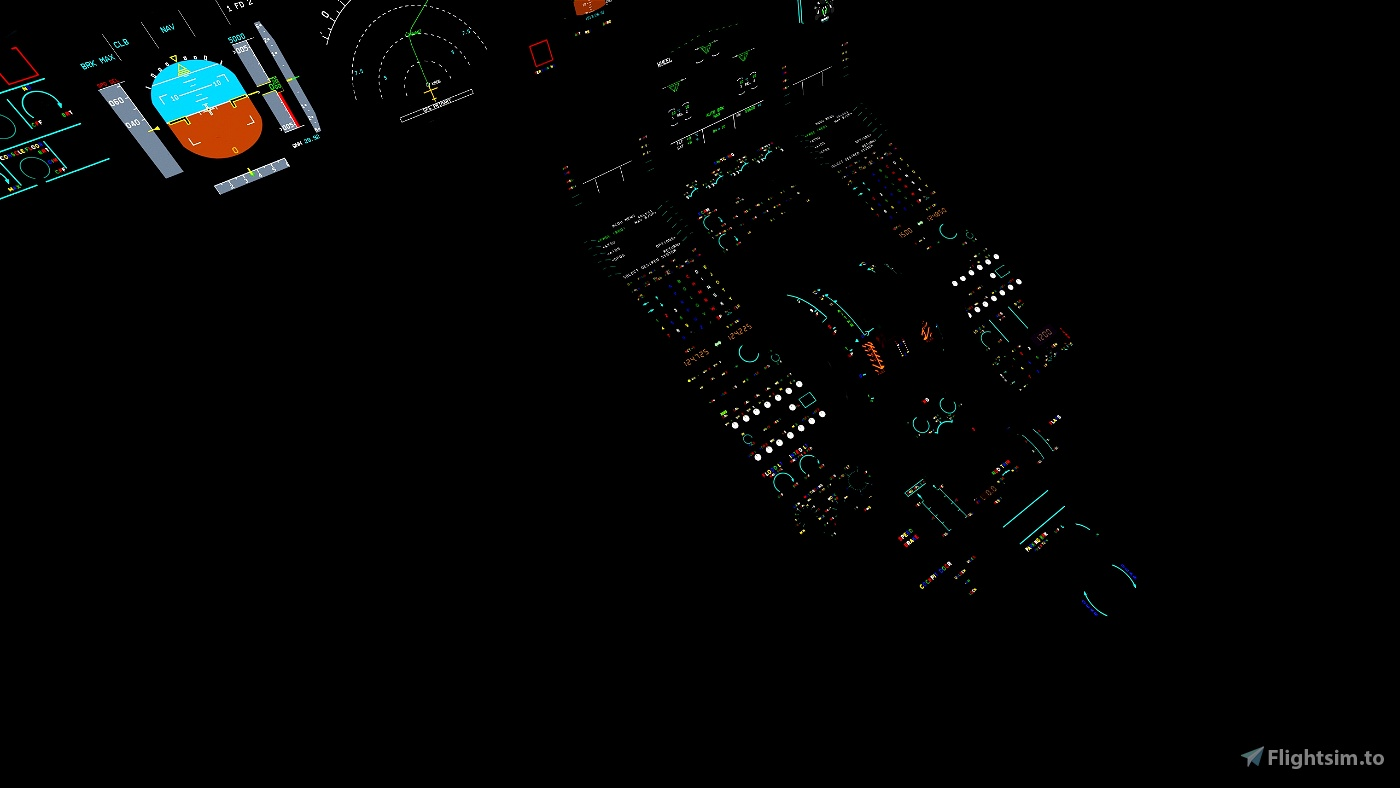 A320NX FBW RGB Cockpit (Rainbow Lighting)