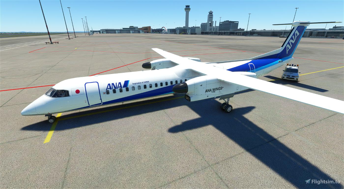 Dash8 Q400 ANA Wings [4K] Flight Simulator 2020